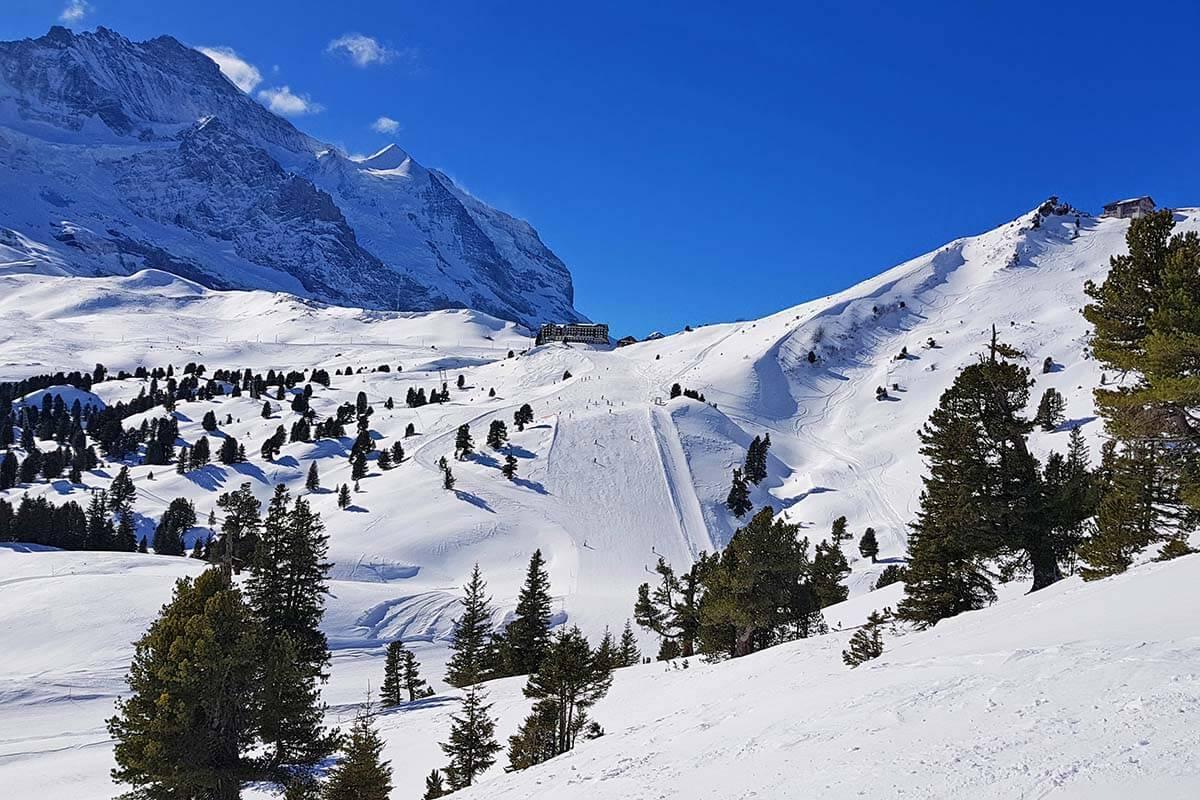 Skiing in Wengen Switzerland