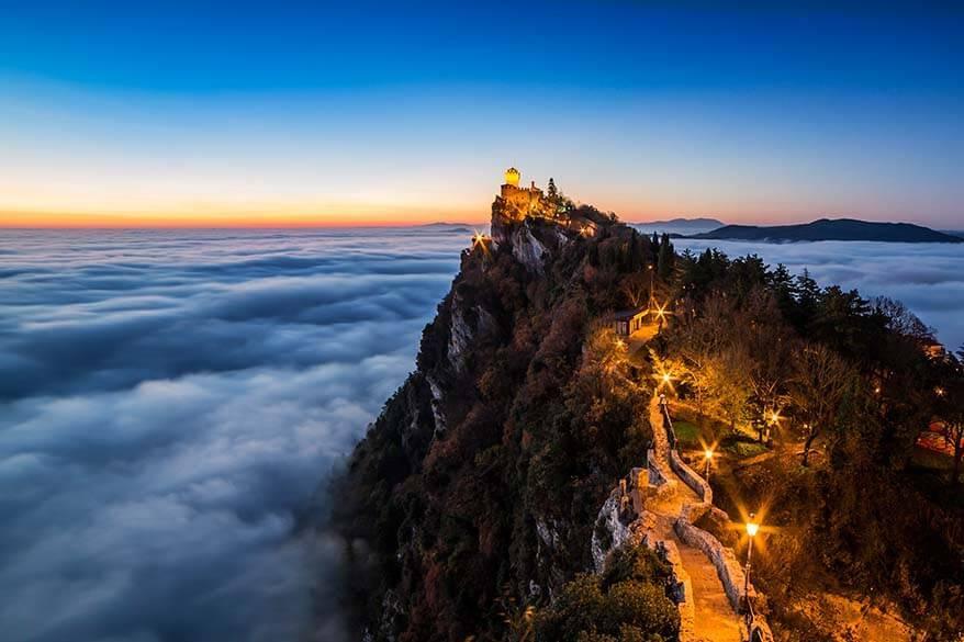 Sunset in San Marino