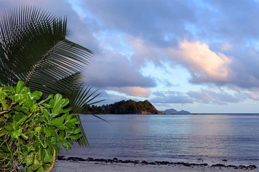 Sunset on Mahe Island in Seychelles