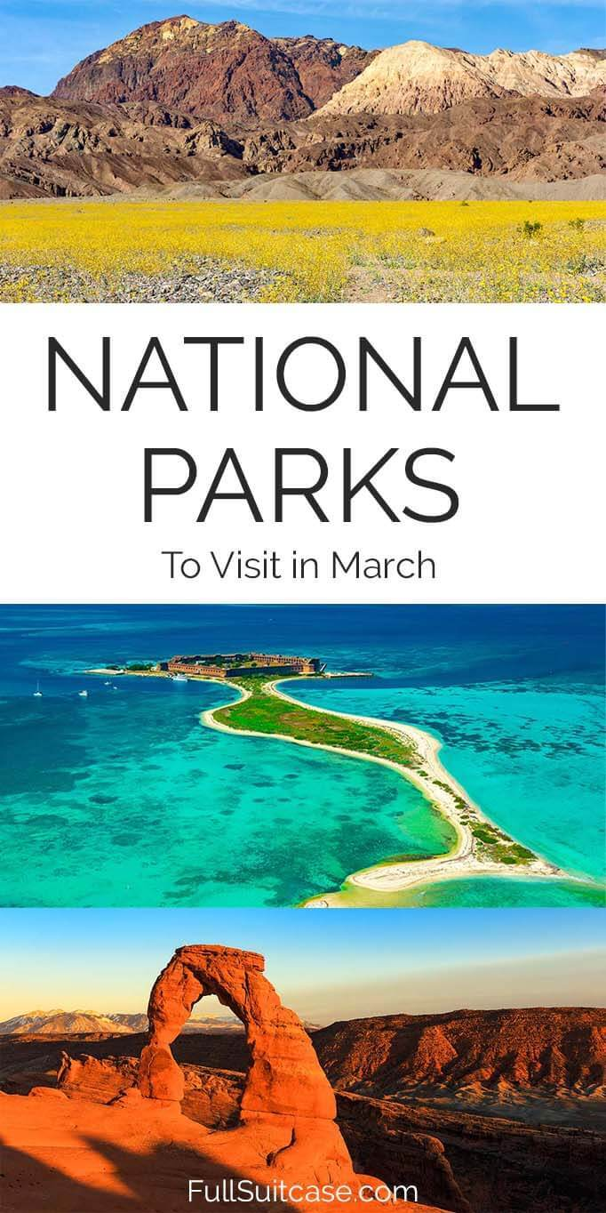 USA National Parks in March