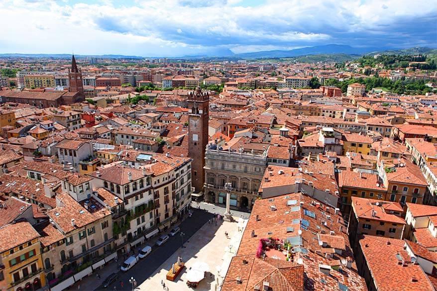 Verona city as seen from Torre dei Lamberti