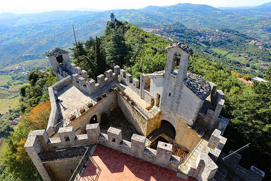 View from Cesta Tower in San Marino