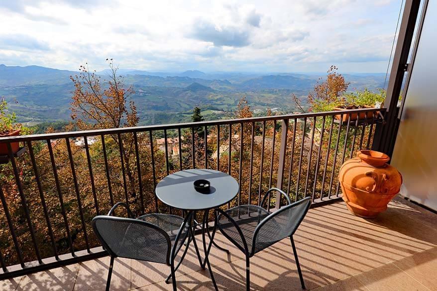 View from Grand Hotel San Marino