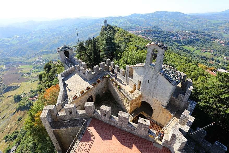 Views from Falesia, the Second Tower of San Marino
