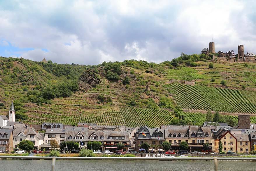 Alken village in Moselle Valley in Germany