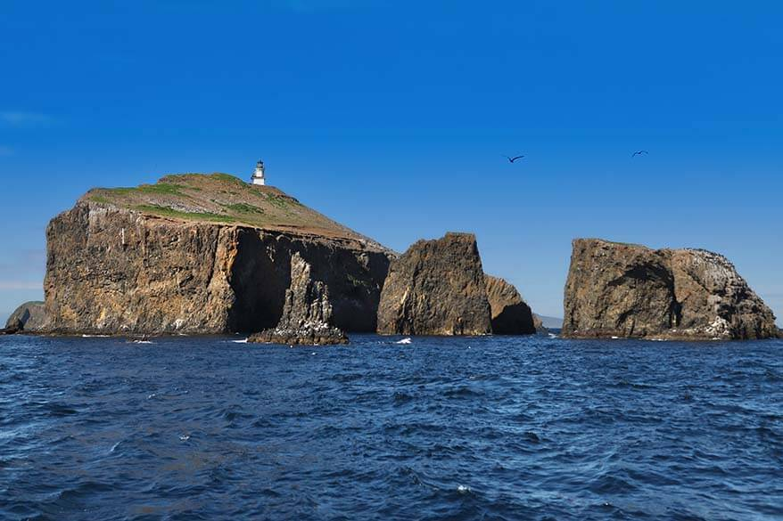 Anacapa Island in Channel Islands National Park in spring