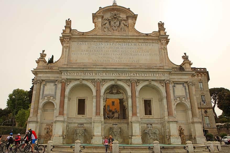 Aqua Paola Fountain in Rome