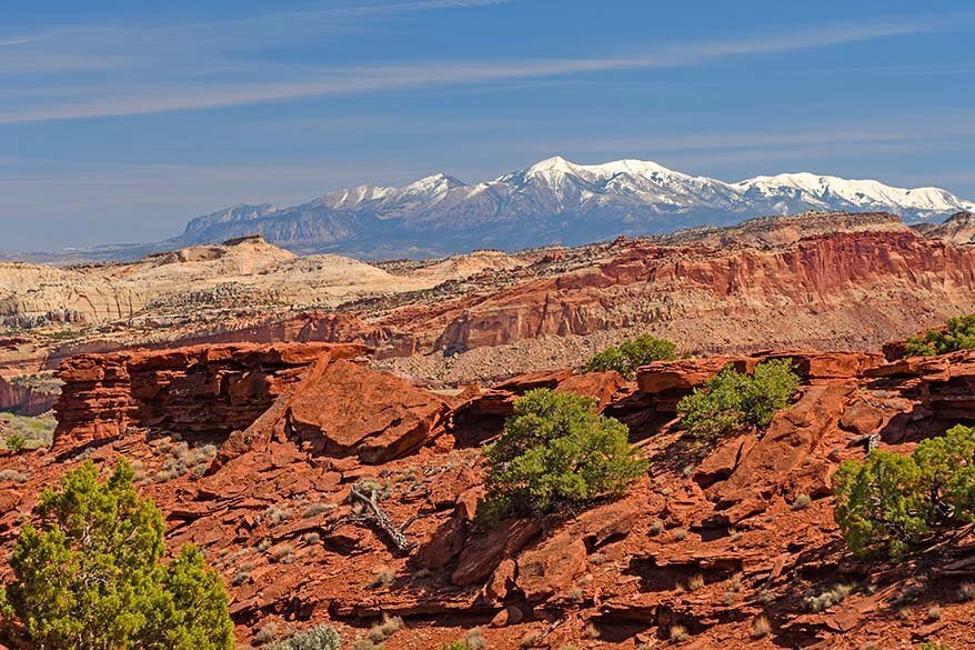 Capitol Reef National Park in April