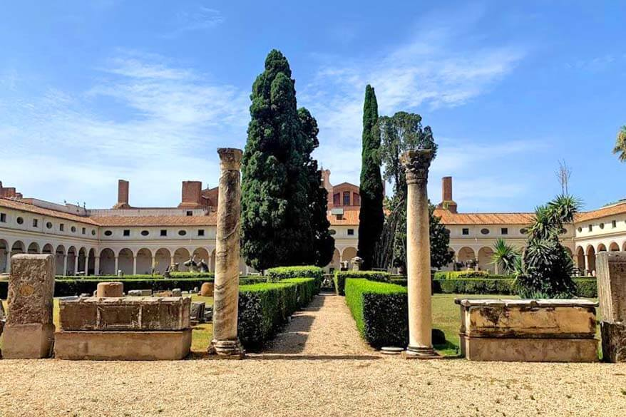 Courtyard of Palazzo Massimo alle Terme in Rome