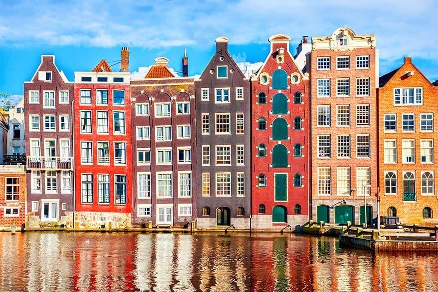 Damrak Waterfront in Amsterdam