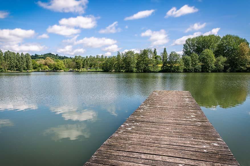 Echternach Lake in Luxembourg