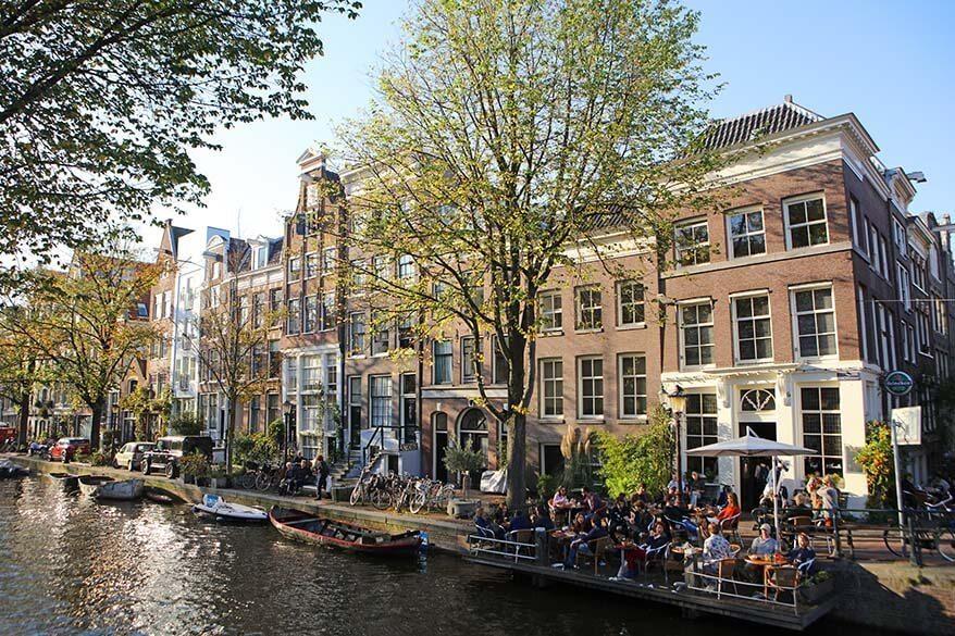 Egelantiersgracht in Jordaan neighborhood in Amsterdam