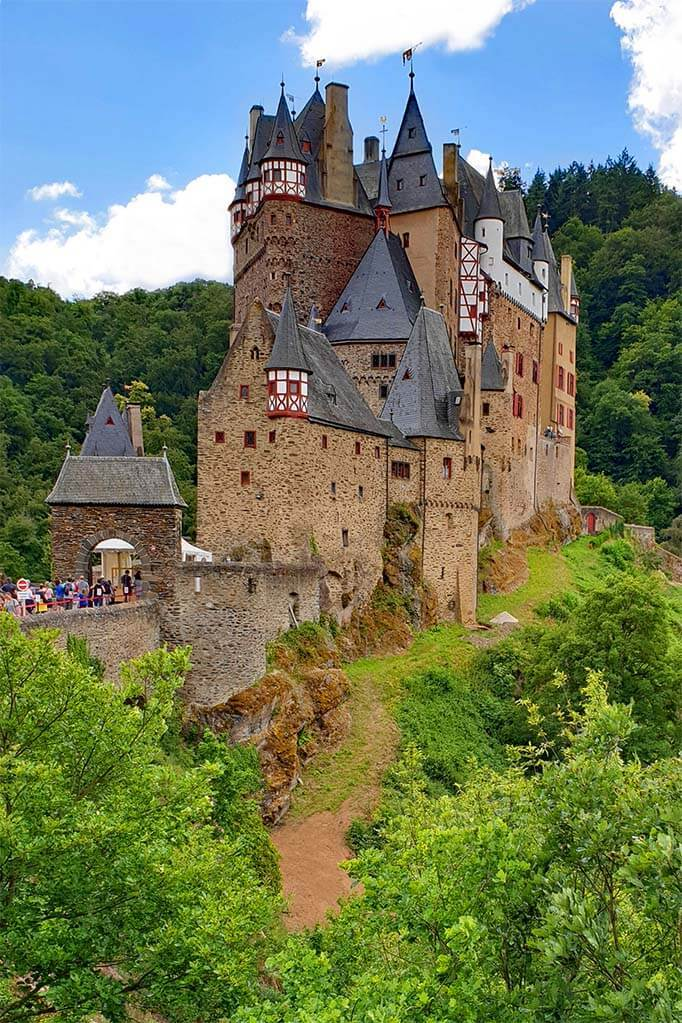 Eltz Castle in Germany on a sunny summer day