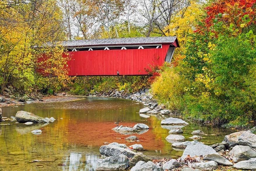 Everett Covered Bridge in Cuyahoga Valley National Park
