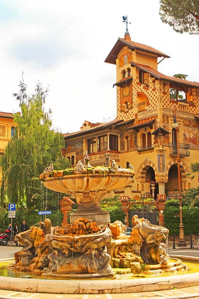 Fountain of the Frogs in Quartiere Coppede in Rome