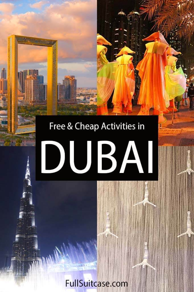 Free things to do in Dubai and cheap Dubai activities on low budget