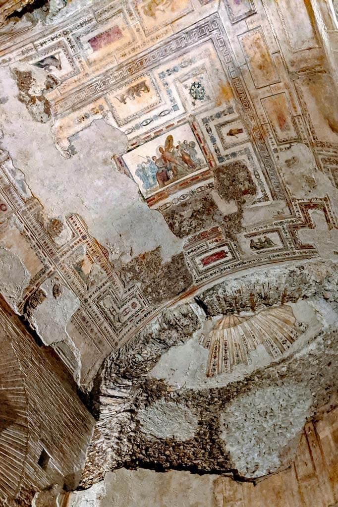 Frescos at Domus Aurea in Rome