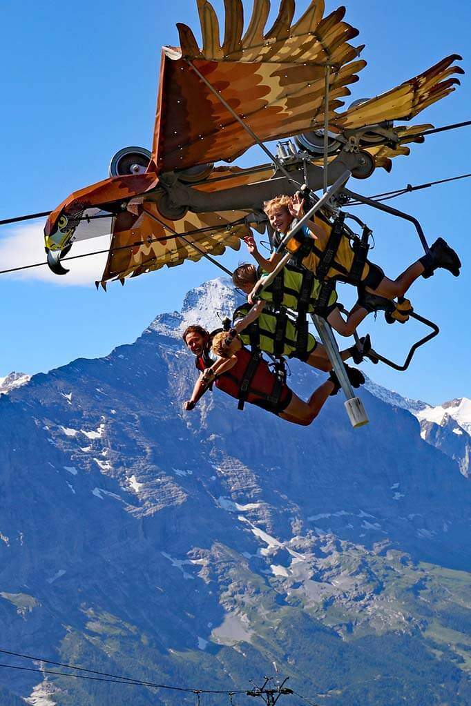 Fun travel pictures - flying on First Glider in Switzerland