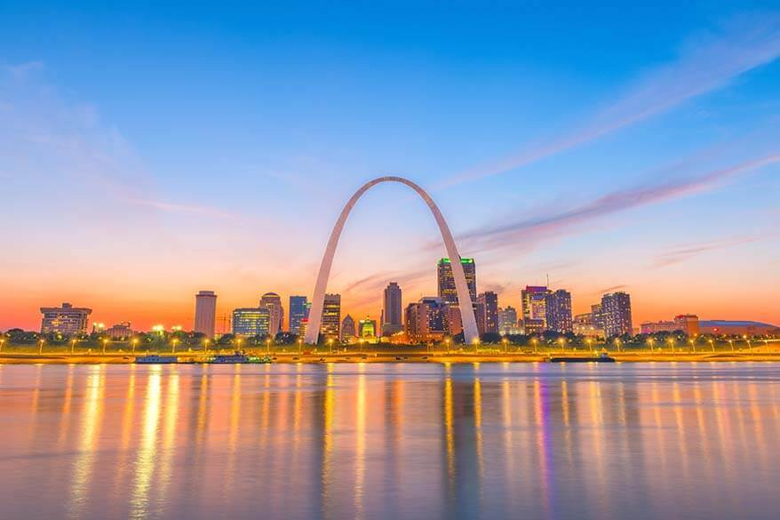 Gateway Arch is among the most visited national parks in the USA