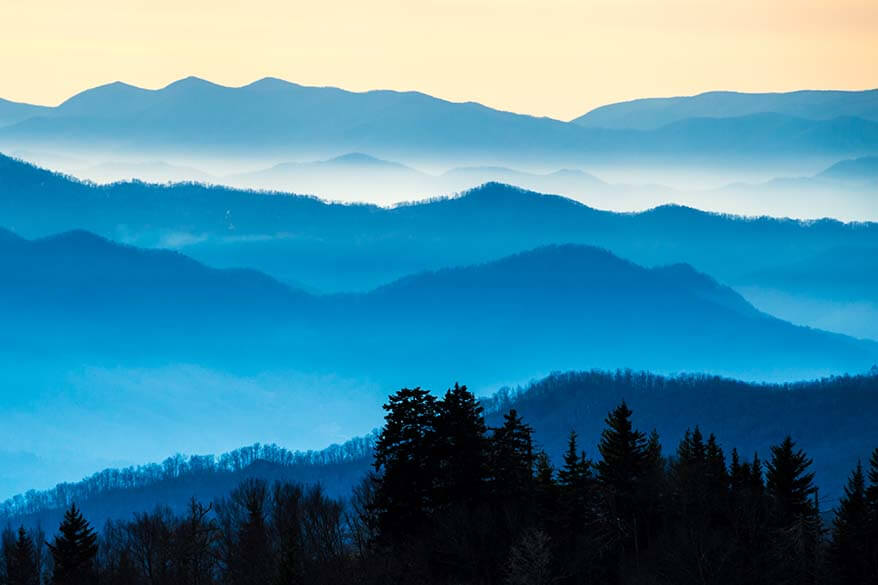 Great Smoky Mountains National Park in the USA