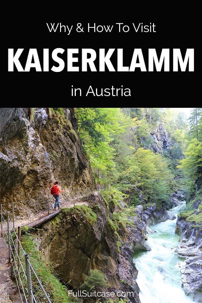Guide to Kaiserklamm Gorge in Brandenberg Austria