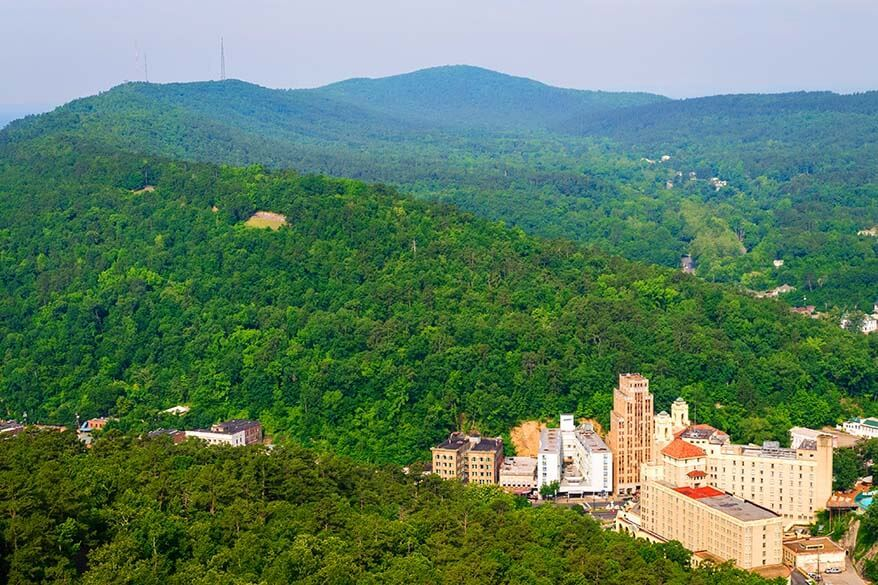 Hot Springs National Park is among the most visited National Parks in the USA