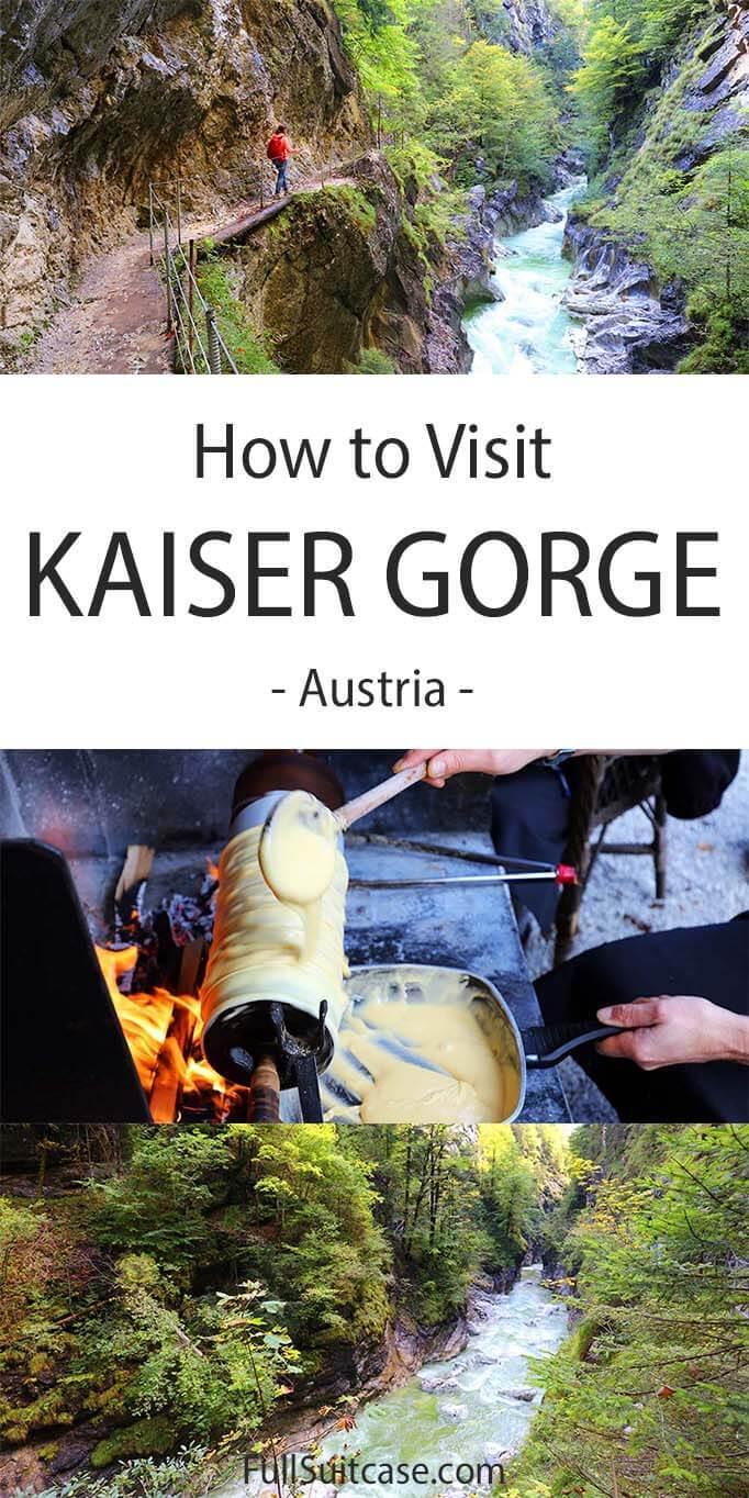 How to visit Kaiserklamm (Kaiser Gorge) in Brandeneberg, Tyrol, Austria