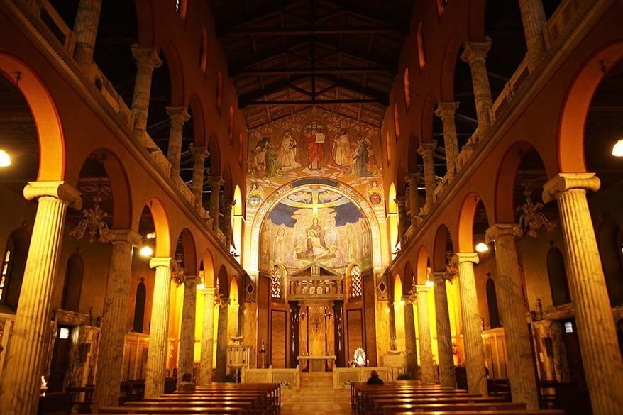 Interior of Chiesa Santa Maria Addolorata on Piazza Buenos Aires in Rome Italy