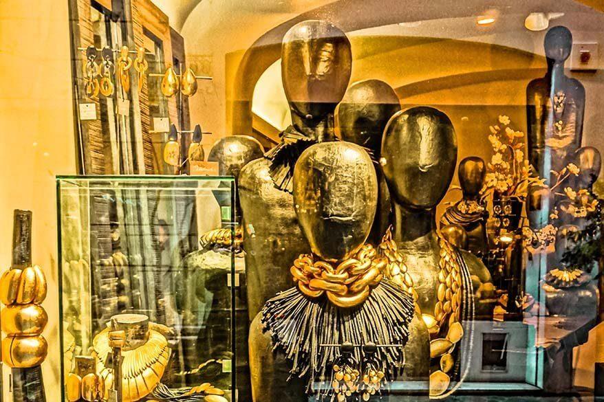 Luxury boutique on Via Margutta in Rome