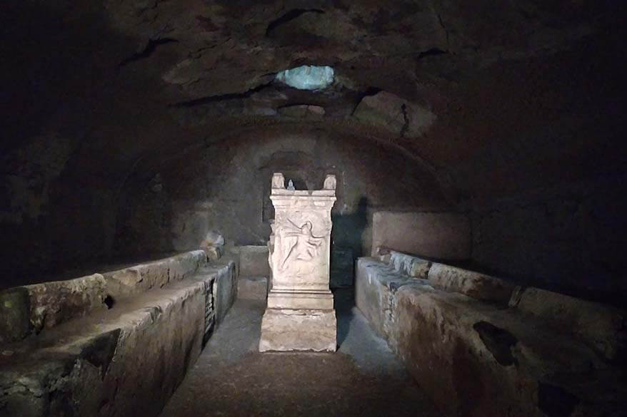 Mithras temple in Basilica San Clemente in Rome