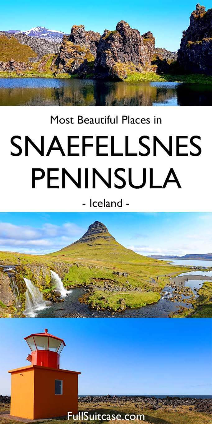 Most beautiful places in Snæfellsnes Peninsula Iceland