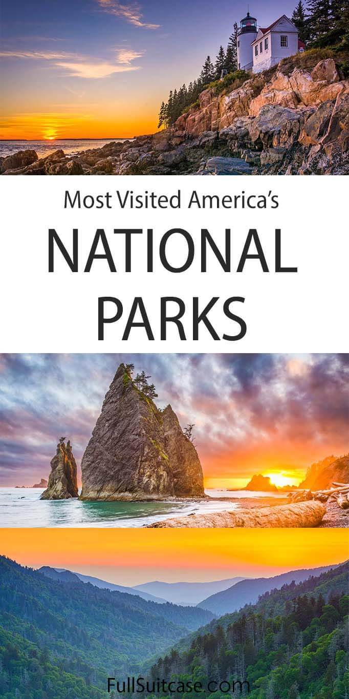 Most visited national parks in the United States of America