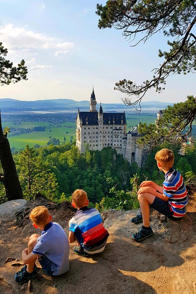 Neuschwanstein Castle in Germany from a different angle
