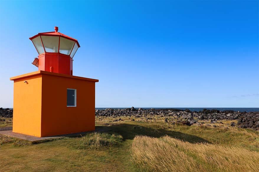 Ondverdarnes Lighthouse in Snaefellsnes Peninsula