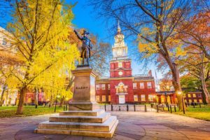 One day in Philadelphia Pennsylvania USA