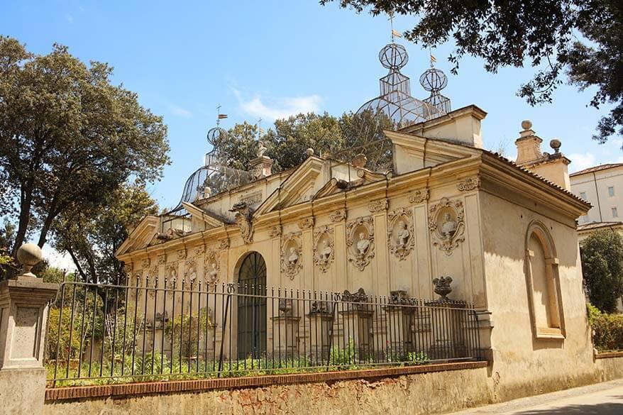 The gardens of Villa Borghese