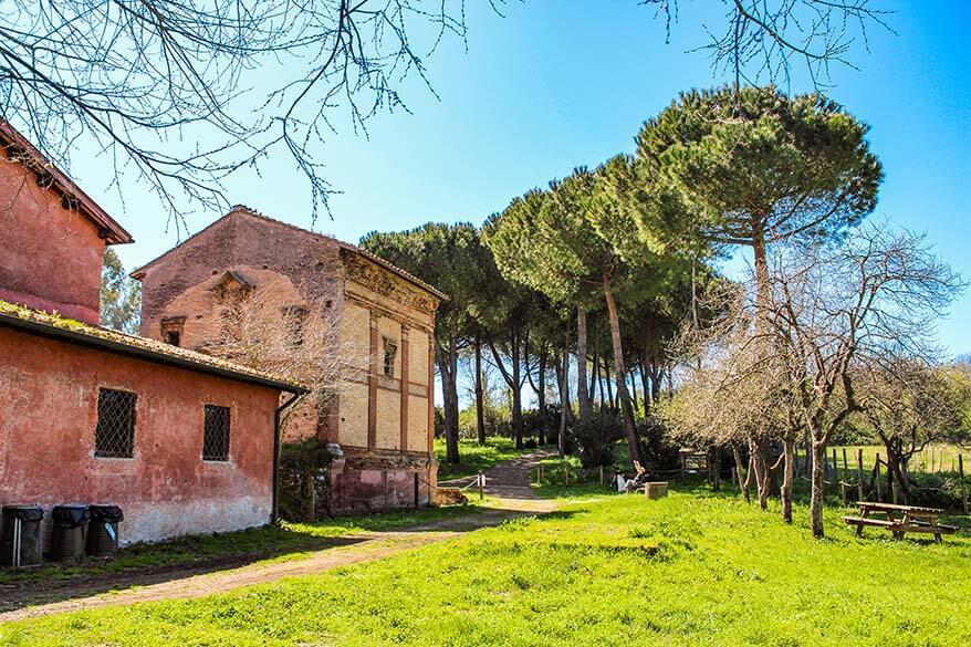 Tomb of Annia Regilla and the Old Mill Farmstead in Park Caffarella in Rome