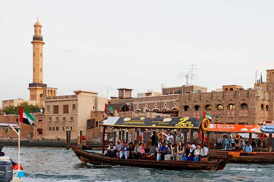 Traditional water taxi Abra - cheap things to do in Dubai