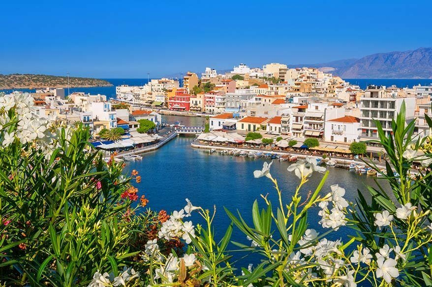 Agios Nikolaos town in Crete, Greece