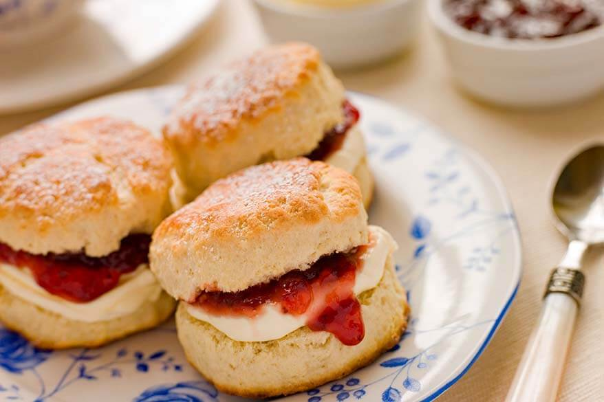 Authentic British scones