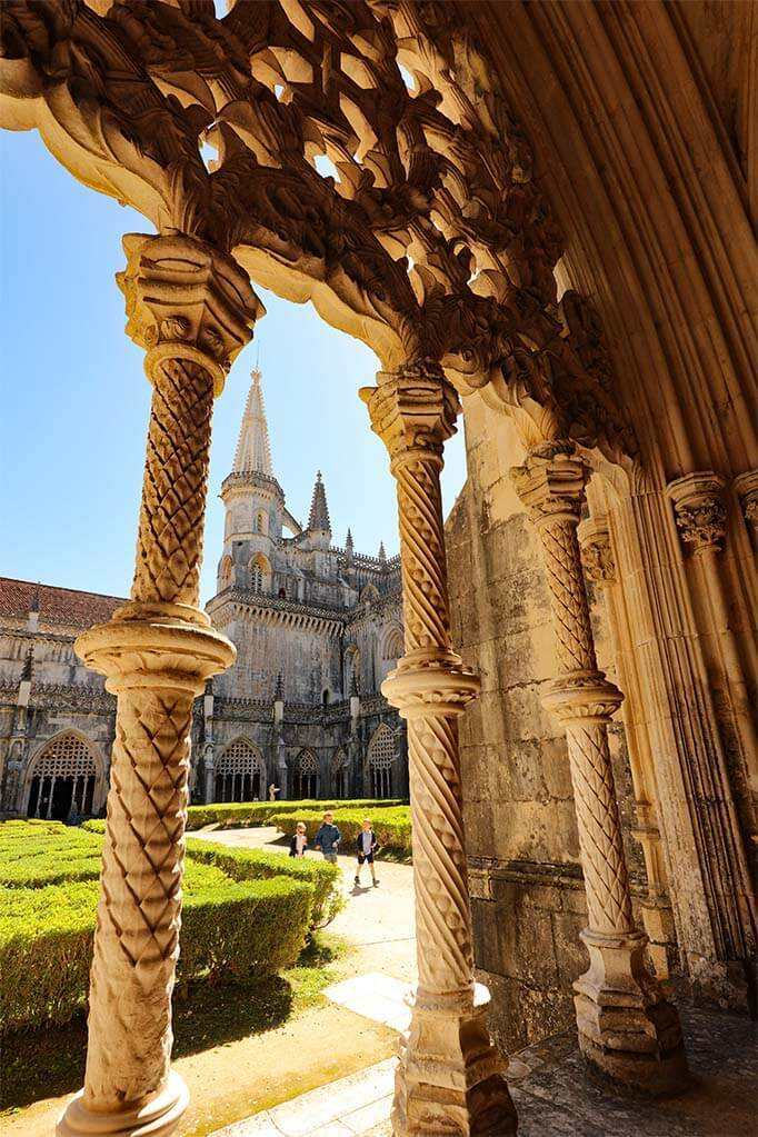 Batalha Monastery in Portugal in April