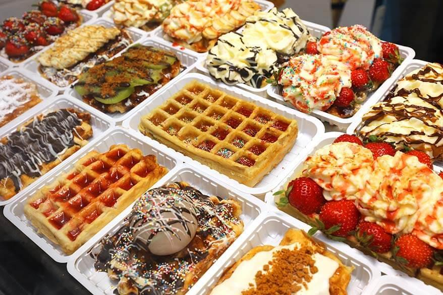 Belgian waffles for sale in Brussels
