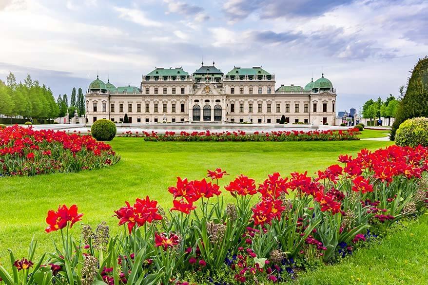 Belvedere Schlossgarten in Vienna in spring