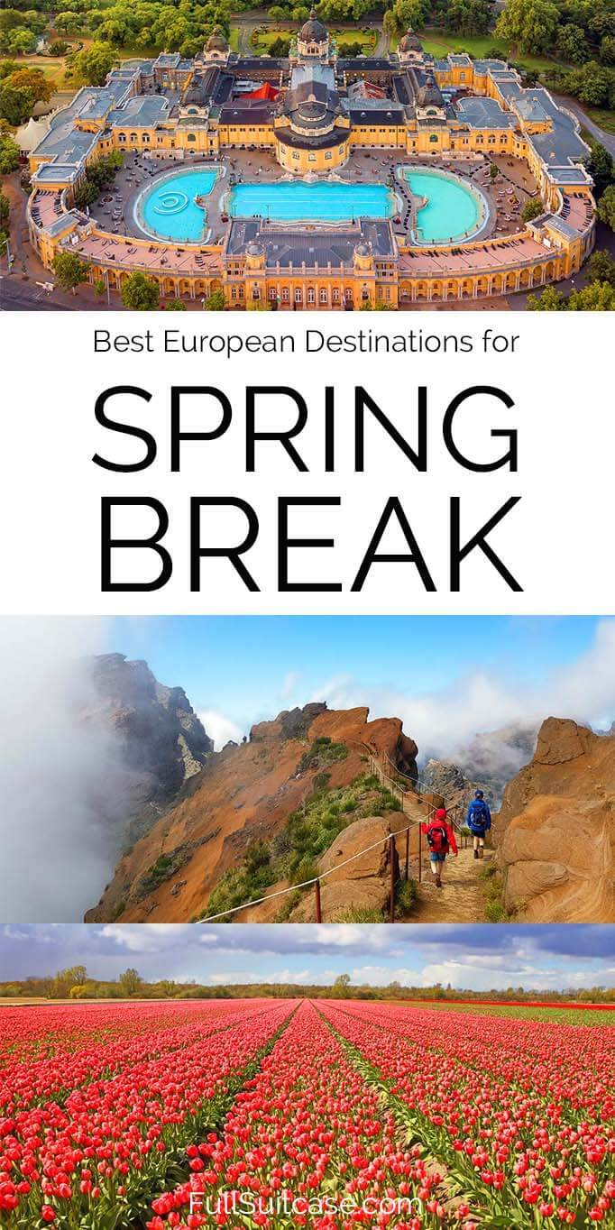 Best European destinations for spring break