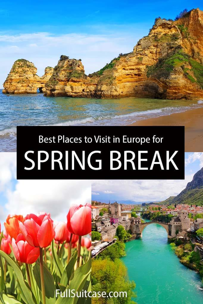 Best places for spring break in Europe