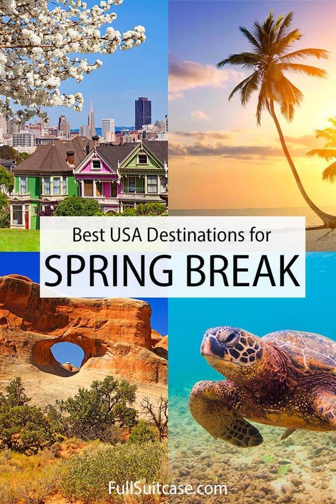 Best spring break destinations in the United States of America