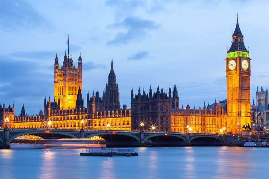 Best things to do in London - Big Ben and Houses of Parliament