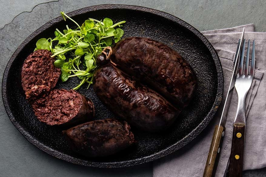 Black pudding - traditional English food