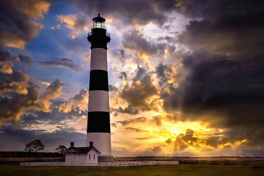 Bodie Island Lighthouse in Outer Banks North Carolina