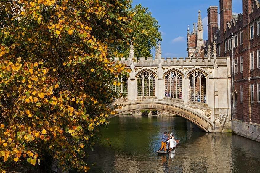 Bridge of Sighs in Cambridge UK
